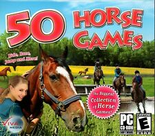 50 Horse Games (PC-CD, 2007) for Windows - NEW in Jewel Case