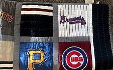 Pottery Barn Teen MLB baseball patchwork TWIN quilt NATIONAL league