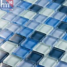 Pâte De Verre mulidhoo carreaux mosaique bleu / Ciel Foncé Blanc 29,5x29,5 POOL