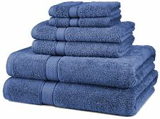 Pinzon Egyptian Cotton 6-Piece Towel Set, Wedgewood, New, Free Shipping
