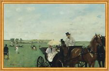 At the Races in the Countryside Edgar Degas Pferde Kutsche Rennen B A1 01442