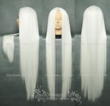 Fashion long Cosplay White Straight COS Wig 100cm free wigs cap