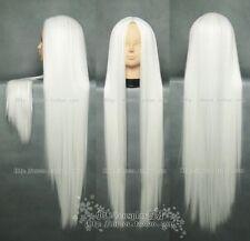 Fashion New long Cosplay White Straight COS Wig 100cm+ free wig cap