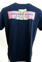 Mens VINEYARD VINES Blue Blazer Margarita & Limes Pocket 100% Cotton Tee T-Shirt