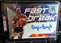 2019-20 PANINI MOSAIC ELGIN BAYLOR FAST BREAK PRIZM AUTO AUTOGRAPH LAKERS
