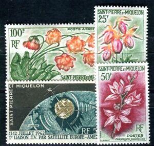 ST PIERRE et MIQUELON 1962 393-395,397 ** POSTFRISCH 37€(F4041