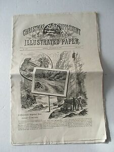 1883 CHRISTMAS SUPPLEMENT OF THE PENNY ILLUSTRATED NEWSPAPER