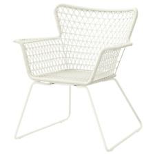 Ikea HÖGSTEN Armlehnstuhl, Gartensessel, Gartenstühl, außen, weiß, rattan Neu!