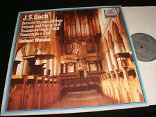 BACH°TOCCATA AND FUGUE<>HELMUT WALCHA<>Lp VINYL~Germany Pressing~ARCHIV 2547 011