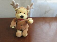 "Disney Winnie The Pooh REINDEER POOH 8"" Plush Stuffed Animal"