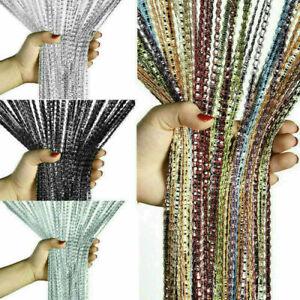 Home Glitter String Curtains Room Net Fringe for Door Fly Screen Window Divider