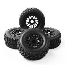 4Pcs 17mm Hex 1:10 Short Course Truck Tires&Wheel For TRAXXAS SLASH RC Car Tyres