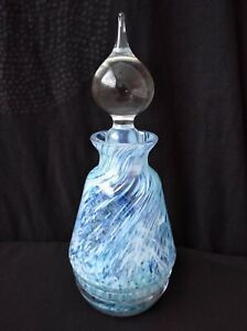 Vintage Small Glass Decanter 15 Cm Tall