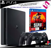 PS4 PLAYSTATION 4 1TB + 2 MANDOS JUEGO RED DEAD REDEMTION 2 CONSOLA VIDEOCONSOLA