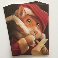Puss In Boots Santa 7 Holiday Christmas Cards Fred Marcellino Art Cat Kitty
