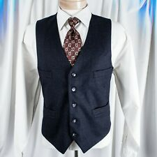 UNBRANDED  Silver Blue with Hint of Stripes Men Vest