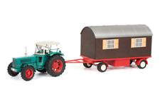 Schuco Hanomag Robust 900 mit Schaustellerwagen grün Traktor 1:32 Art. 450780300