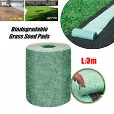 Grass Seed Mat Biodegradable Just Roll Water & Grow Not Fake or Artificial Grass