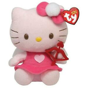 """Ty Beanie Valentine's Day Cupid Hello Kitty with Bow and Arrow 6"""" 15cm New MWMT"""