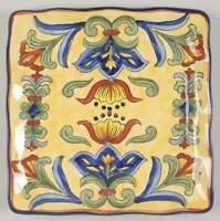 Maxcera Corp YELLOW TALAVERA Square Salad Plate 7632793