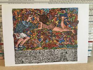 Robert COMBAS - Carton d'invitation vernissage «La fougue du pinceau» 2015
