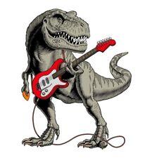 "3"" Guitar Dinosaur T Rex Music Rock Punk Cool Skate Vinyl Old School Sticker"