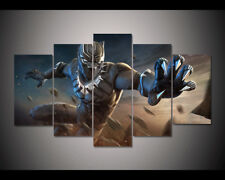 5p canvas painting print black panther marvel contest of champions poster