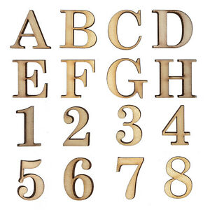 Wooden Letters Large Small Georgia Bold 2cm-40cm 4mm Thick MDF Craft Extra Large