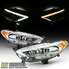 2013-2016 Ford Fusion LED DRL Switchback Signal Headlights Headlamps Left+Right