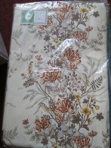 "vintage floral curtains 70"" x 54"" drop rail / track room meadow flowers"