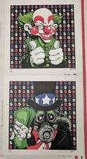Corporate Values Blotter art Print Set Uncle Scam Yes Man Limited Edition Signed