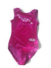 "ZONE Velour sleeveless LEOTARD  size 26""  (116-128cms) Cerise Hot Pink"