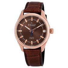 Zenith El Primero Espada Brown Dial Brown Leather Mens Watch