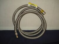 """PROFLO PF146205 STAINLESS BRAIDED ICE MAKER SUPPLY LINE 1/4"""" X 1/4""""X 60"""" NOS"""