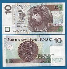 Poland 10 Zlotych P 183 2012 (2014) New UNC Polska  Low Shipping! Combine FREE!