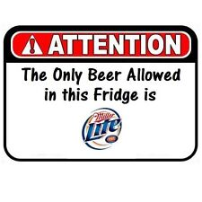 D302 Funny Miller Light Beer Man Cave Refrigerator Fridge Warning NFL Magnet