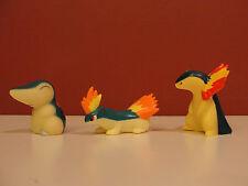 Pokemon Kids Friends Figure Lot by Bandai -- Cyndaquil, Quilava, Typhlosion