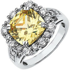 Fancy Yellow 5.25 CT GIA Certified Cushion Cut Diamond Engagement Ring 18k Gold