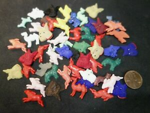 50  Vintage  figural  ANIMAL  Glass  Cabochons  Jewelry pieces CAMELS Rabbit DOG