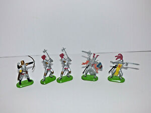 1971 Britains Lot of Crusaders with Weapons