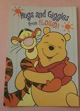 Winnie the Pooh & Tigger Hugs and Giggles From Florida - Unused Disney Postcard