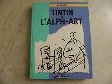 TINTIN ET L'ALPH-ART BD EO  HERGE