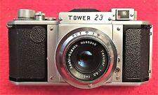 RARE COLLECTOR'S ASAHI ASAHIFLEX TOWER 23 BODY w/f 3.5 50MM TAKUMAR LENS - MINT