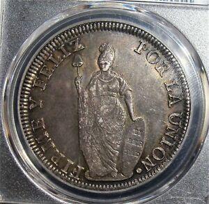 Peru: Republic 8 Reales 1831 LM-MM MS62 PCGS.