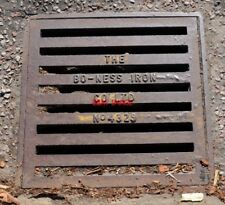 PHOTO  BO-NESS WASTE OVERFLOW COVER A BO-NESS IRON CO LTD GUTTER COVER IN ARDRIS