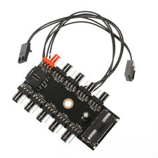 10 Way PC CPU PWM Cooling Fan Speed Controller Hub 4/3-pin Power Splitter Parts
