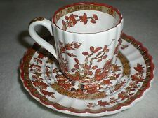 """Demitasse cup and saucer by Spode """"Indian Tree"""" design"""