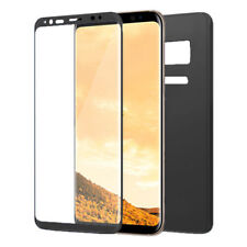 Front & Back Full Glue Curved 3D Screen Protector For Samsung Galaxy S8 - BLACK