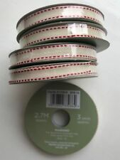 5 x Vintage Style Ivory Quality Fabric 1cm Finishing Ribbon Each Roll 270 cm