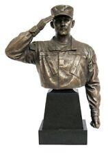 "Khaki Army: Army Specialist Bust - KA104 - 1/6th Scale 8"" Tall Bronzed Bust"